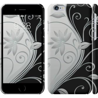 Чехол Цветы на чёрно-белом фоне 840c-45