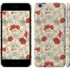 Чехол Цветы на бежевом фоне 1225c-45