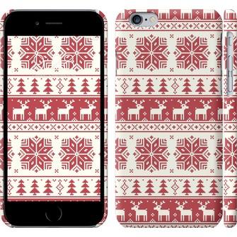 Чехол новый год и красные олени 1487c-45