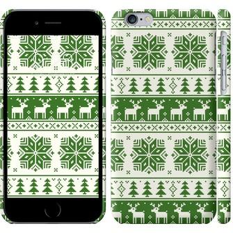 Чехол новый год и зелёные олени 1488c-45