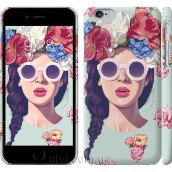 Чехол Девушка с цветами 2812c-45