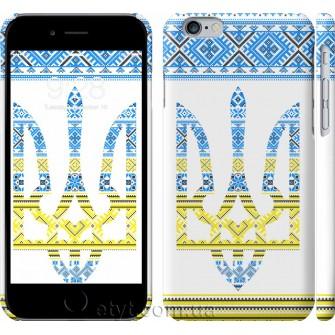 Чехол Герб - вышиванка желто-голубая 1197c-45