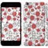 Чехол Красные розы на белом фоне 1060c-45