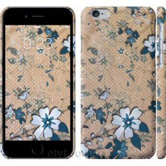 Чехол Синие цветы на коричневом фоне 506c-45